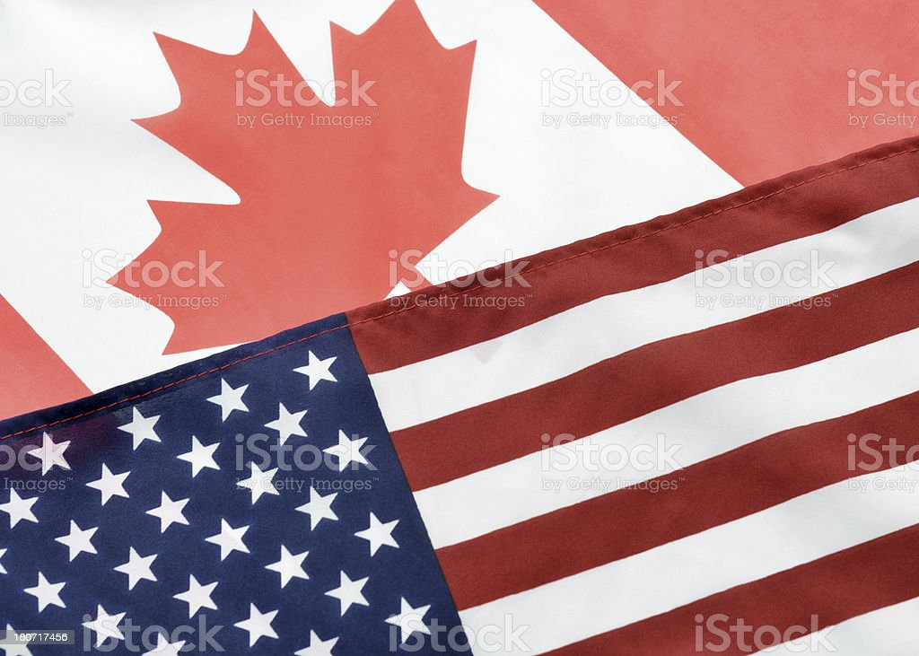 American Canadian Relations royalty-free stock photo