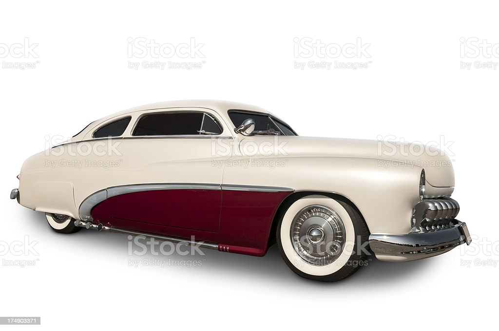 American car from 1950's stock photo