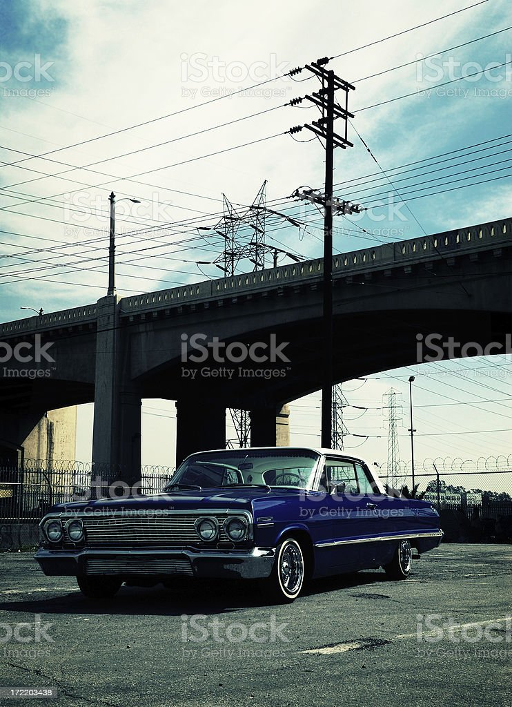 american car from the 60's royalty-free stock photo