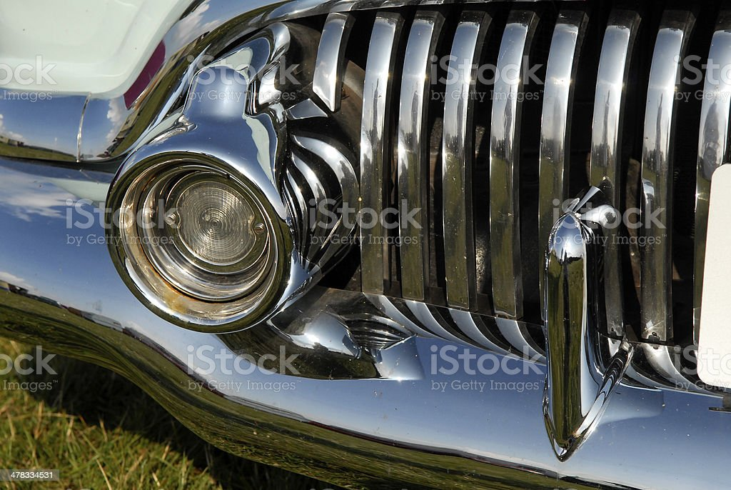 American car grill and bumper royalty-free stock photo