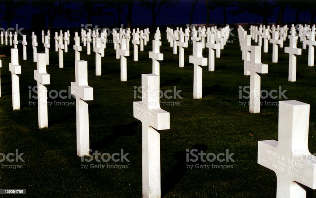 American Cemetary 2 royalty-free stock photo