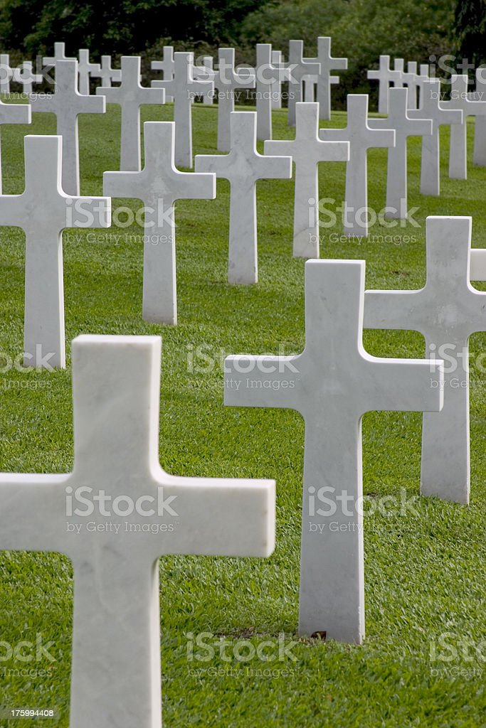 American cemetery 4 royalty-free stock photo
