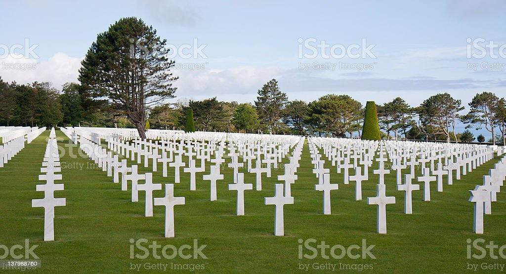 American cemetery at Omaha Beach, Normany France stock photo