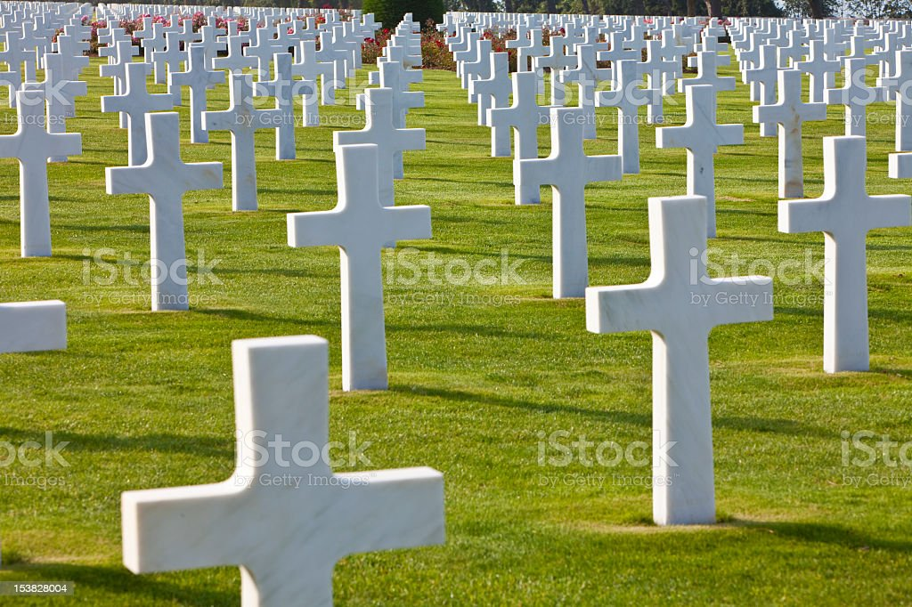 American Cemetery Colleville-sur-Mer Omaha Beach Normandy France stock photo