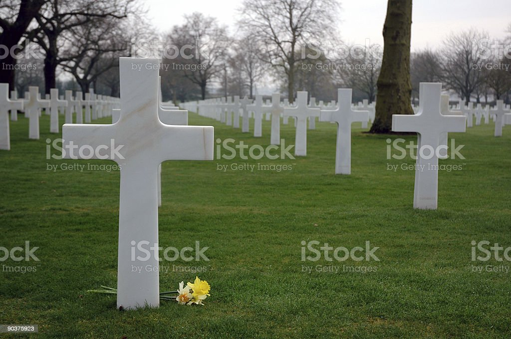 American Cemetery In France royalty-free stock photo