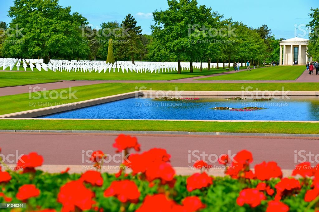 American Cemetery in Normandy, France stock photo