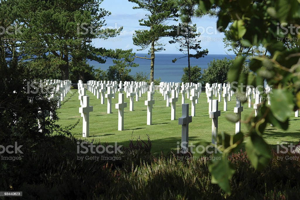 American Cemetery in Normandy, France royalty-free stock photo