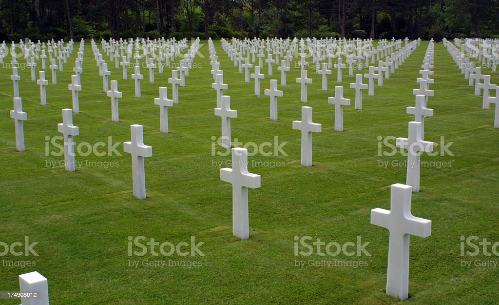 American cemetery in Normandy royalty-free stock photo