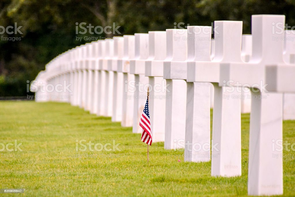 American Cemetery in Normandy stock photo