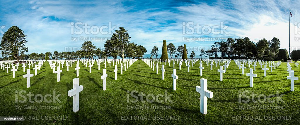 American cemetery in Normandy,France. stock photo