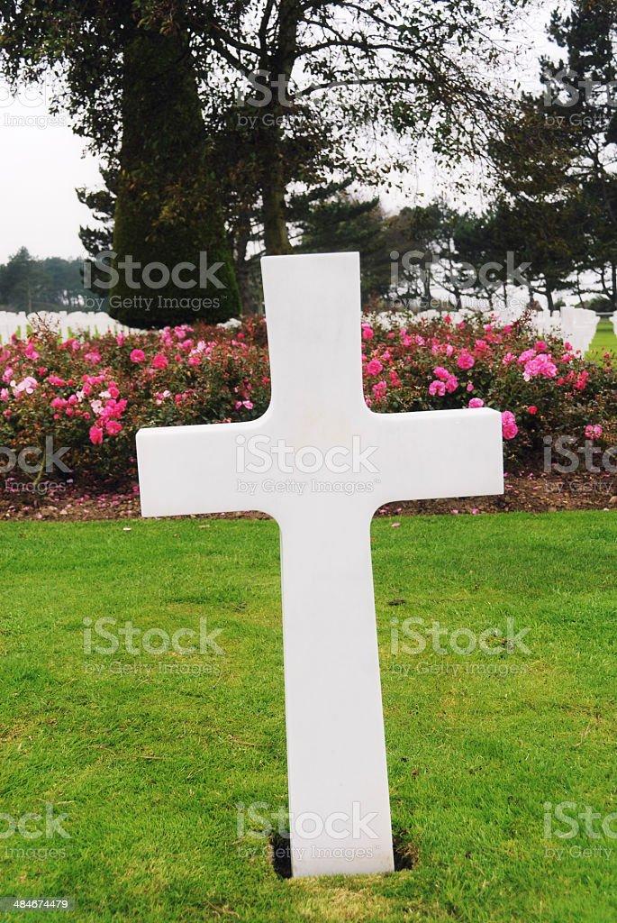 American cemetery near Omaha Beach stock photo