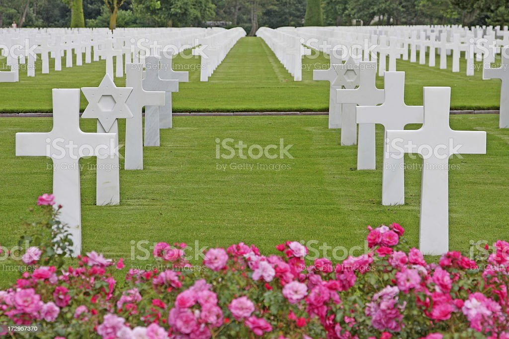 American cemetery, Normandy, France XL stock photo