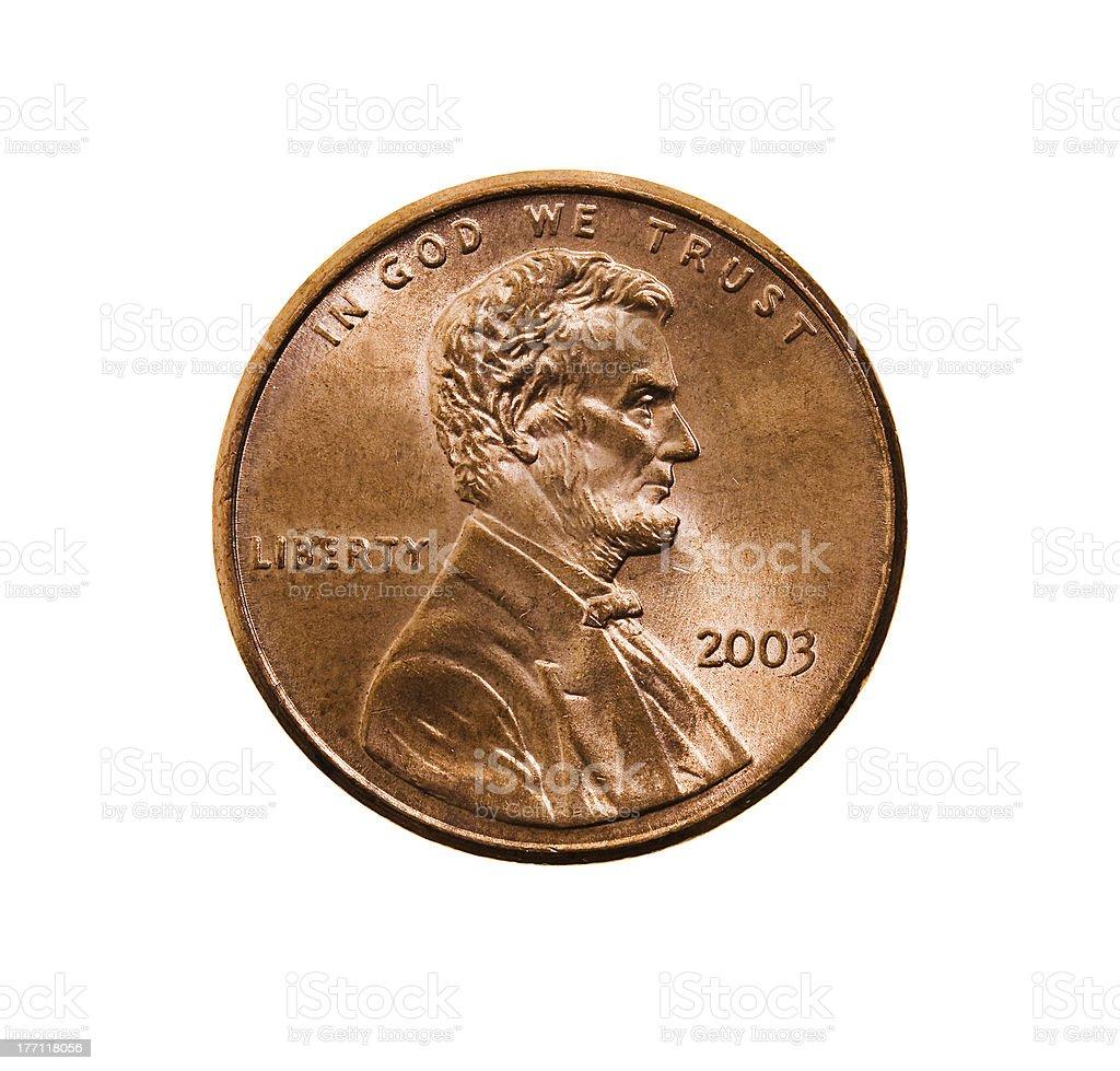 American cent stock photo