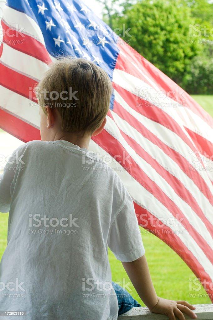 American Child stock photo