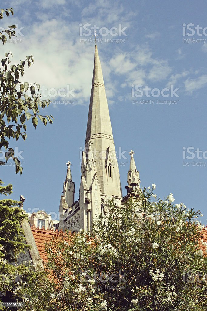 American church in the city of nice, French riviera. royalty-free stock photo