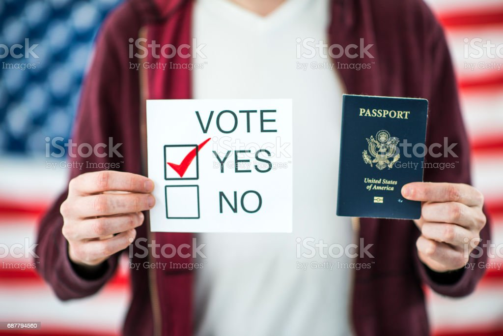 American Citizen Voting stock photo