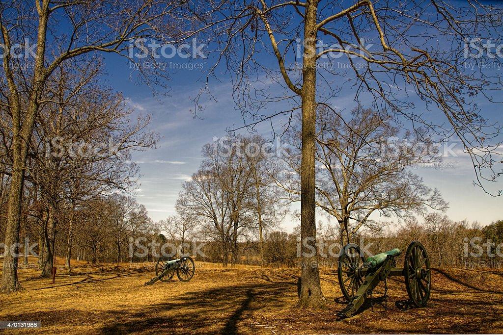 American Civil War Battle Site stock photo