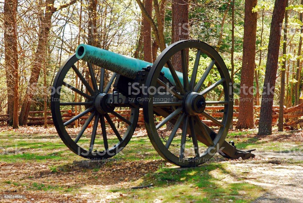 American Civil War Cannon stock photo