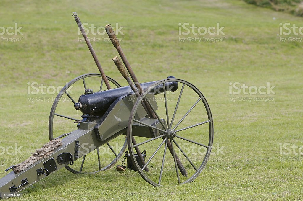 American Civil War Cannon stock photo