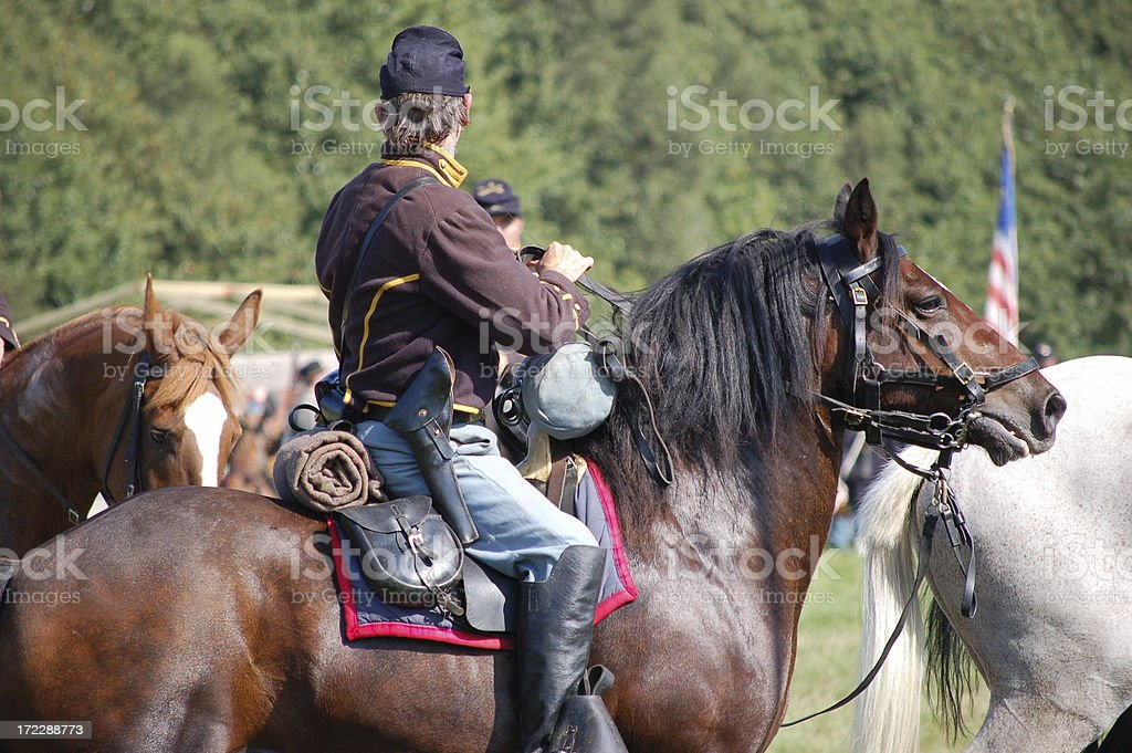 American Civil War Cavalry. stock photo