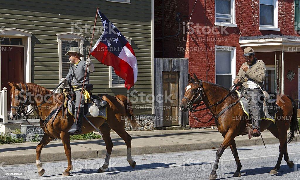 American Civil War Confederate Cavalry stock photo