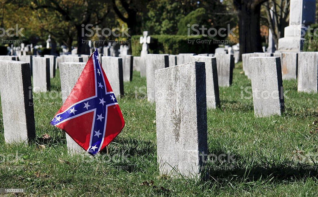 American Civil War, Confederate Soldier Graveyard stock photo