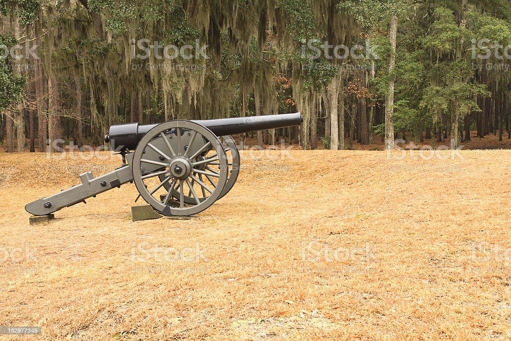 American Civil War Era Canon On Battlefield stock photo