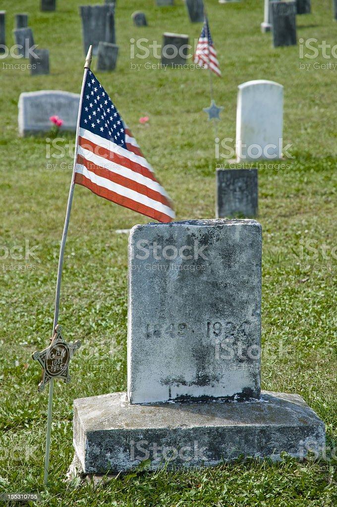 Guerra Civil Americana séria marcador foto royalty-free
