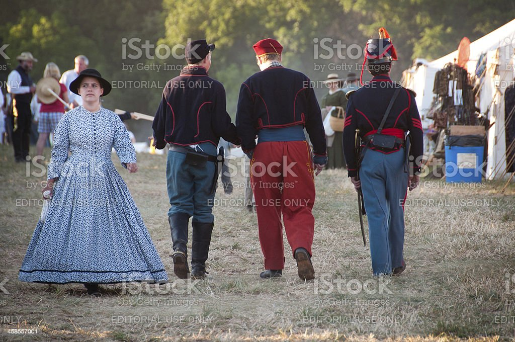 American Civil War royalty-free stock photo