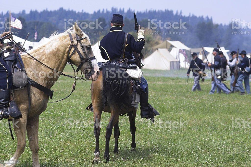 American Civil War Reenactment stock photo