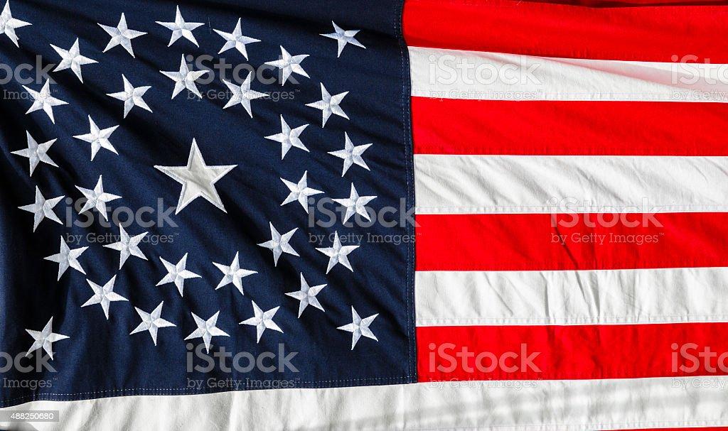 American Civil War Union Flag, 34 Star, Circle Pattern stock photo