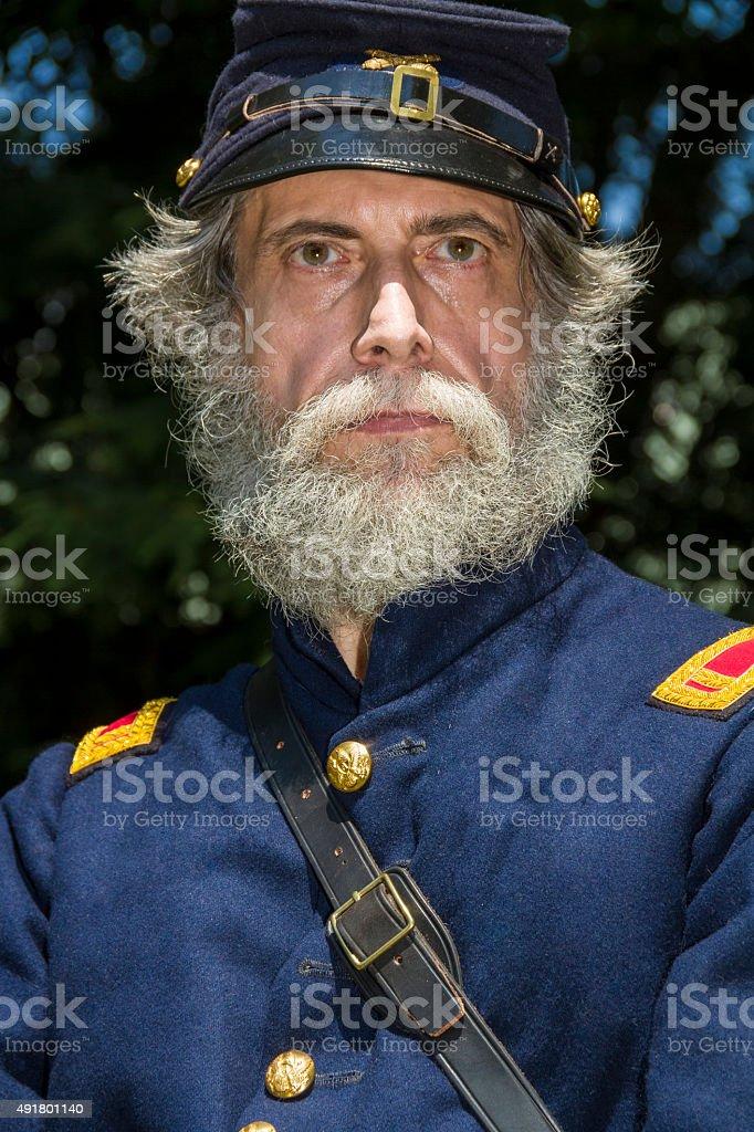American Civil War Union Officer stock photo