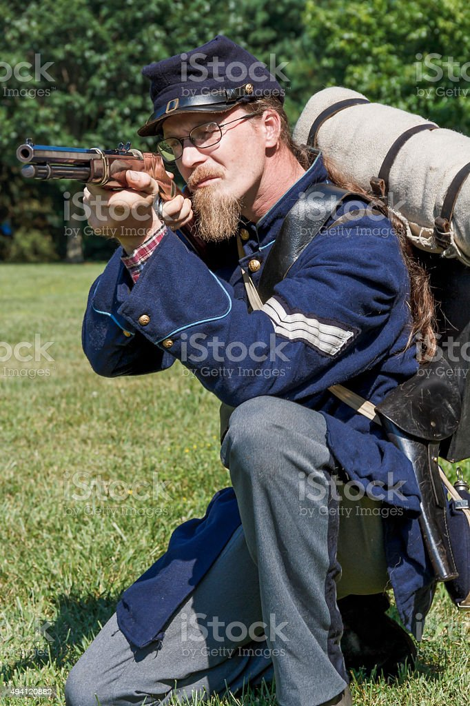 American Civil War Union Officer stock photo