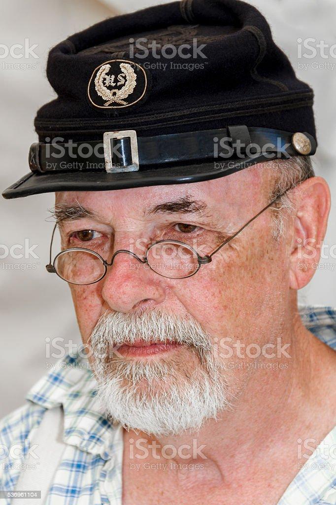 American Civil War Union Preacher stock photo