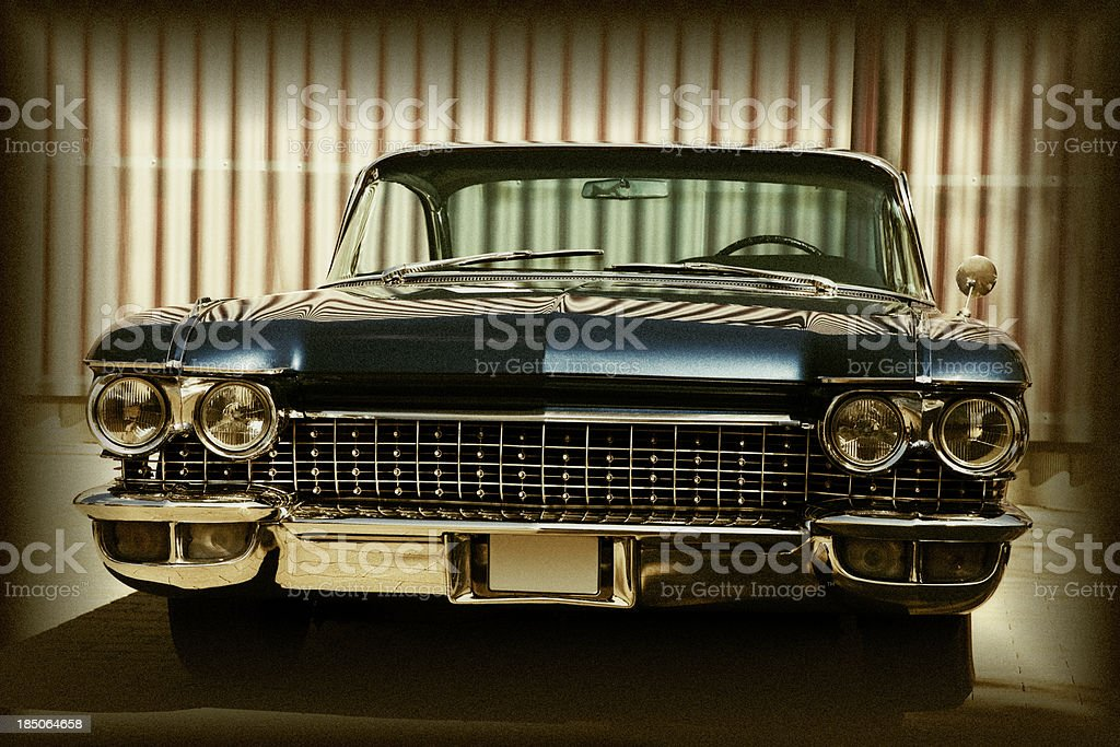 American Classic Car, Front View, Cadillac Coupe De Ville, stock photo