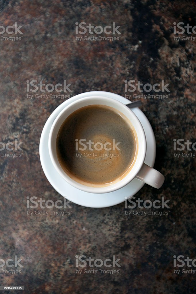 americano cofee from top view stock photo