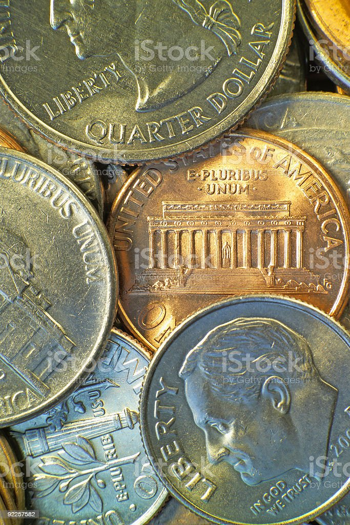 American coins 2 stock photo