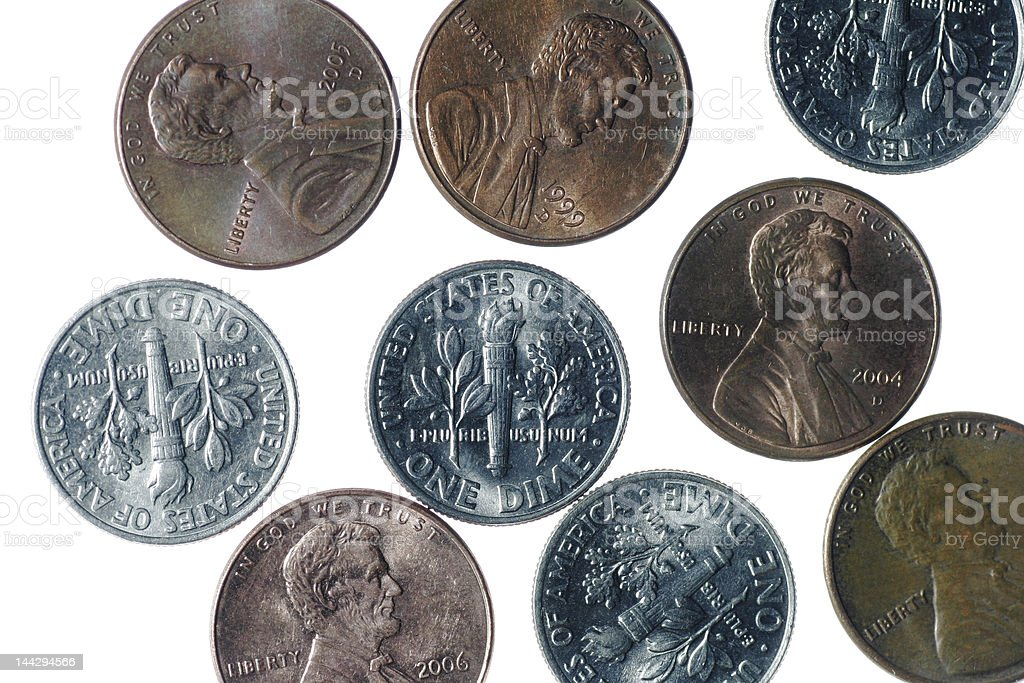 American Coins royalty-free stock photo
