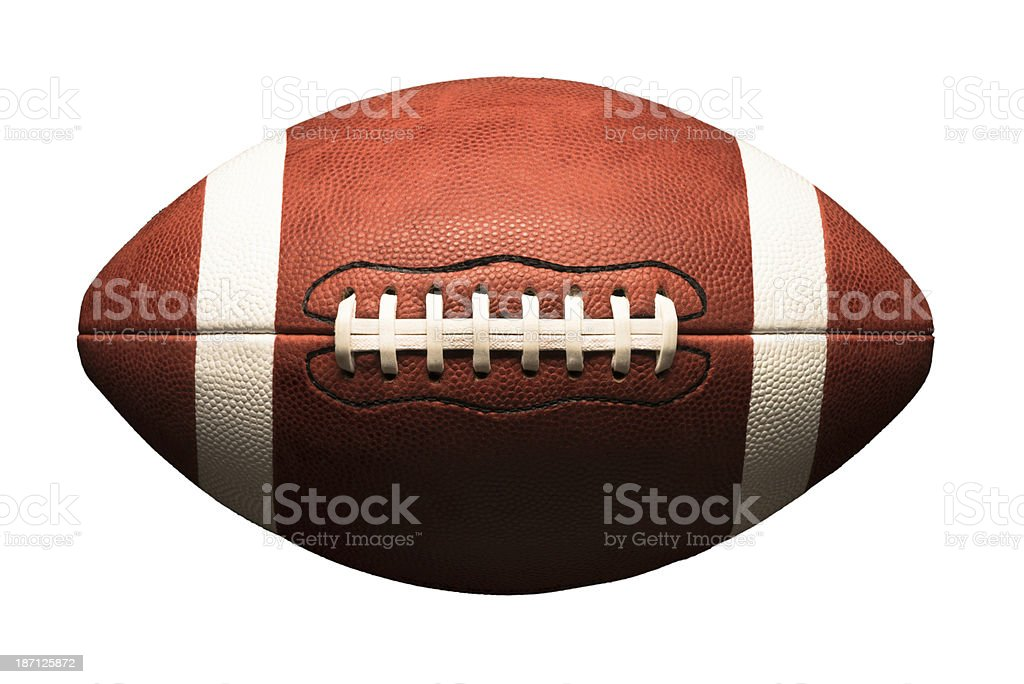 American College Football on White stock photo