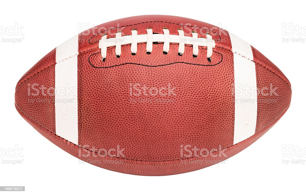 American College High School Junior Football on White stock photo