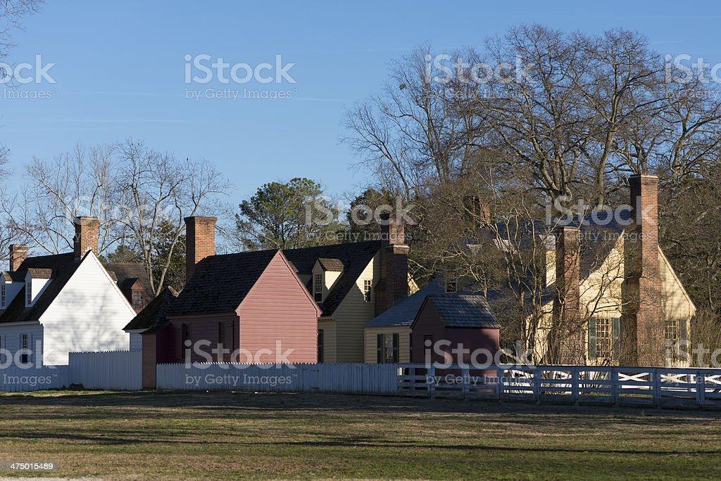 American Colonial Village stock photo