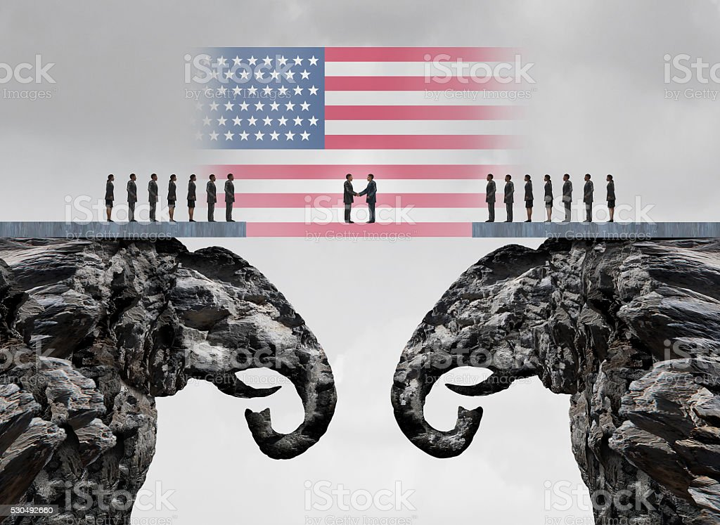 American Conservative Agreement stock photo