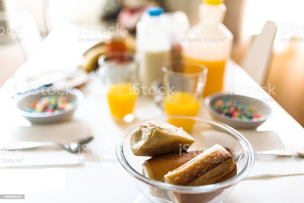 american continental breakfast stock photo