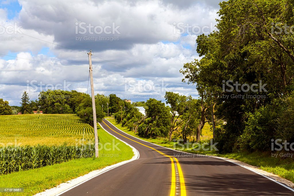 American Country Road Side View royalty-free stock photo