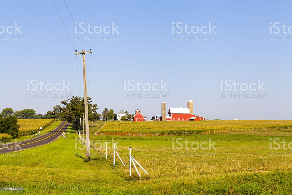American Countryside royalty-free stock photo