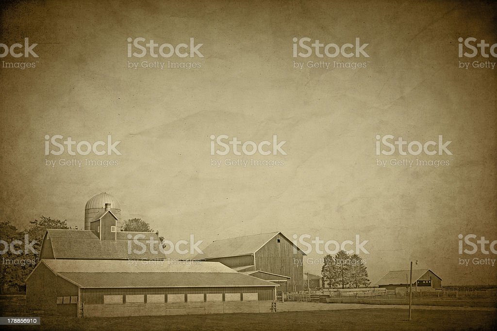 American Countryside - Vintage Design royalty-free stock photo