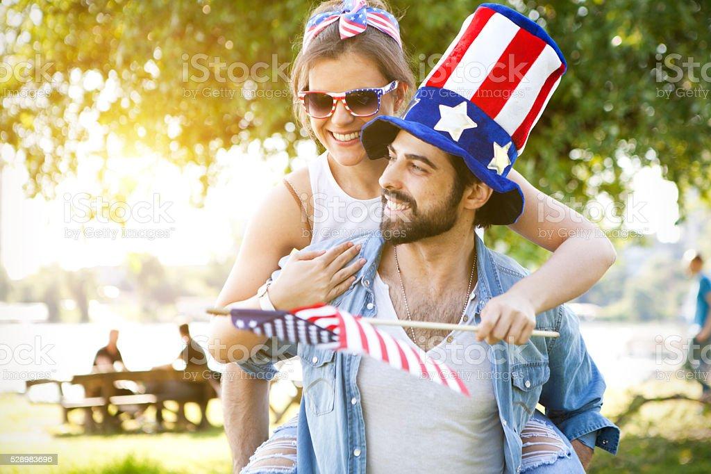 American Couple stock photo
