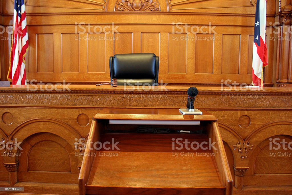 American Courtroom 2 royalty-free stock photo