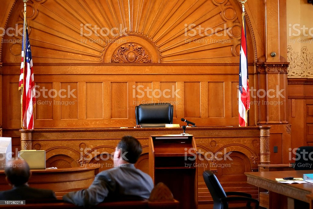 American Courtroom royalty-free stock photo