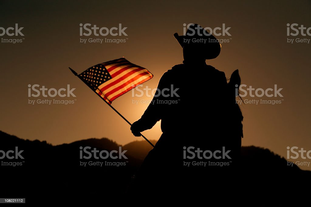 American Cowboy stock photo